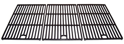 Music City Metals 60273 Matte Cast Iron Cooking Grid Replacement for Select Master Forge and Perfect Flame Gas Grill Models, Set of 3 by Music City Metals