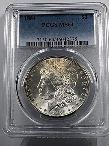 1884 Morgan Silver Dollar Tone w/Textile Marks Dollar MS-64 PCGS