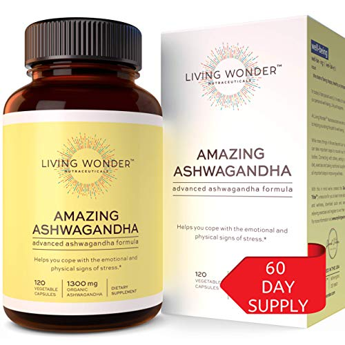 Ashwagandha Capsules for Stress Relief - Organic Ashwaganda Root Extract Supplement for Women  Men - Natural Anti Anxiety Supplements with Black Pepper  Herbal Blend - Aswaghanda Powder 120 Pills best to buy