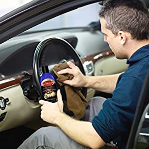 Leather Cleaner - THE BEST Natural & Professional Strength Leather Cleaner for Cars, Leather Furniture, Purses, Shoes, Boots, Saddles, Jackets, Couch, Sofa, Seats & More - Conditioner Added - 8 and 16 Oz Cream - Bonus Applicator Glove - 100% GUARANTEED!