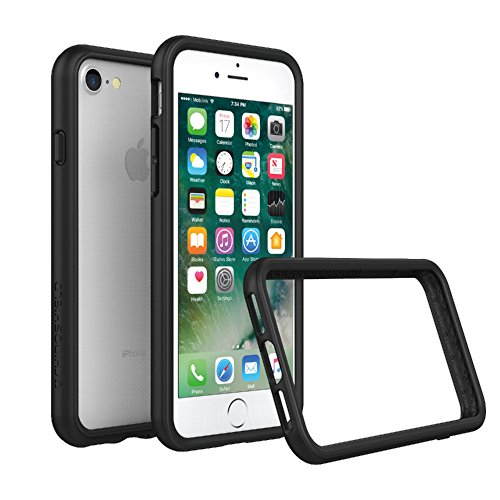 RhinoShield Bumper Case for iPhone 8 / iPhone 7 [NOT Plus] | [CrashGuard] | Shock Absorbent Slim Design Protective Cover [3.5 M / 11ft Drop Protection] - Black