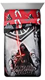 Star Wars EP7 Rule Galaxy Twin/Full Comforter - Super Soft Kids Reversible Bedding features Darth Vader and Stormtroopers - Fade Resistant Polyester Microfiber Fill (Official Product)