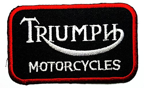 Triumph Motorcycles Racing Vintage Racer Classic Biker Club logo patch Jacket T-shirt Sew Iron on Patch Badge ()