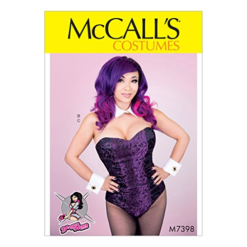 McCall's M7398 E5 Corseted Bodysuit, Collar, Cuffs and Tail by Yaya Han (14-16-18-20-22) (Bunny Suit Pattern Costume)