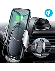 PaiTree Wireless Car Charger Mount, 3 in 1 Auto-Clamping Phone Holder for Car Dashboard Air Vent Windshield, Hands-Free Car Mount 10W Qi Fast Charging for iPhone 11 Pro Max/XS/XR, Samsung S10+/Note 10
