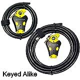 Master Lock - Two Python Adjustable Cable Locks Keyed Alike, 1-6ft, 1-20ft, 8413KACBL-620