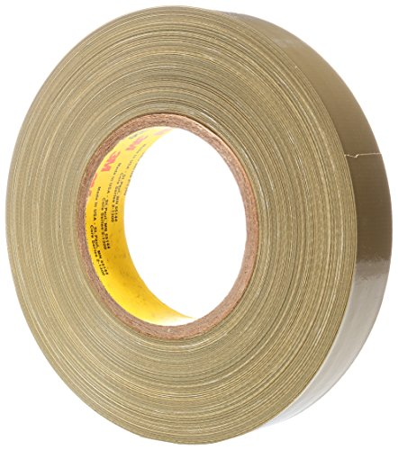 Scotch Polyethylene Coated Cloth Tape 390 Olive, 1 in x 60 yd (Case of 36) ()