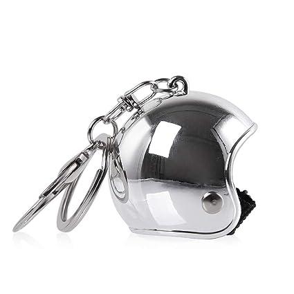 XX ecommerce Moto Casco llavero para llave Cadena creativo personalidad Star Llama Leopard de impresión tarnen Logo Llavero Universal Llave anillos