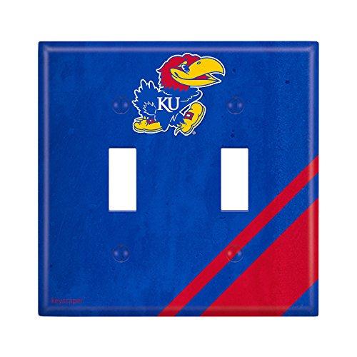 Kansas Jayhawks Double Toggle Light Switch Cover NCAA