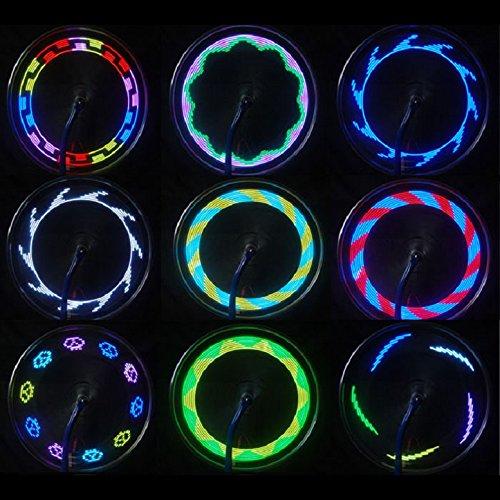 Lookatool 14 LED Motorcycle Cycling Bicycle Bike Wheel Signal Tire Spoke Light 30 Changes