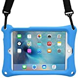 iPad Mini 1/2/3/4 case, COOPER BOUNCE STRAP Heavy Duty Rugged Tough Case Cover with Shoulder Strap and Built-in Stand for Apple iPad Mini 1/2/3/4 (Blue)