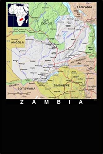 Modern Day Color Map Of Zambia In Africa Journal Take Notes Write
