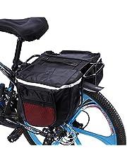 25L fietsen fiets fietsenrek achter achterbank staartdrager kofferbak dubbele fietstas (rood)