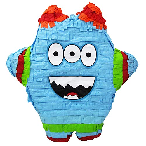 Funny Monster Party Pinata for Baby Showers, Kids Birthdays or Halloween -
