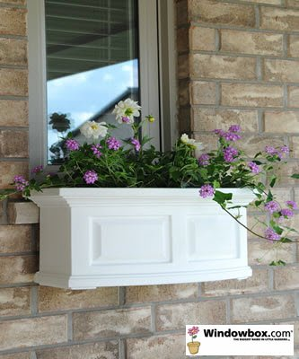 Presidential 24 Inch Window Box - White by Windowbox