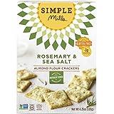 Simple Mills Almond Flour Crackers, Rosemary/Sea Salt, 4.25 Ounce