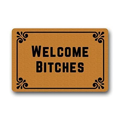 "Welcome Bitches - Funny Doormats Personalized Durable Machine-washable Indoor/outdoor Door Mat 23.6""(L) x 15.7""(W) Inch"