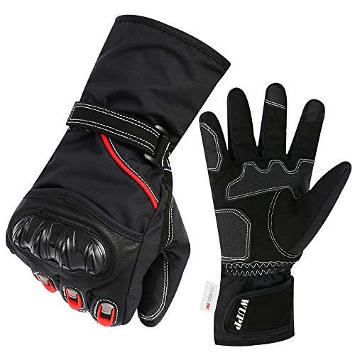 Motorcycle Gloves, ONEVER Mountain Bike Gloves Bike Bicycle Cycling Riding Full Finger Gloves