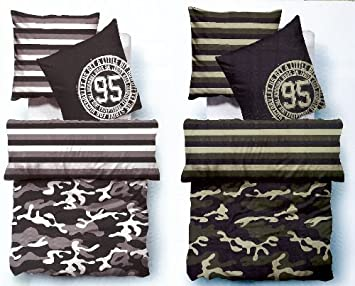 Original Tom Tailor Linon Wende Bettwäsche Camouflage Aus