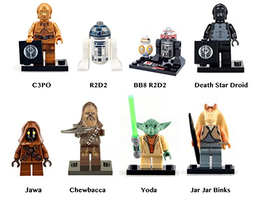 star-wars-droids-and-non-humans-jawa-chewbacca-yoda-r2-d2-jar-jar-binks-8-pc