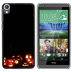 Paccase / SLIM PC / Aliminium Casa Carcasa Funda Case Cover para - Halloween Autumn Fall Pumpkin - HTC Desire 820