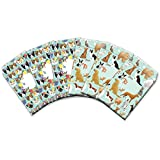 Jillson Roberts 6-Count Tyvek Padded Mailer Shipping Envelopes Available in 8 Different Assortments, Medium Assorted Designs, Cats and Dogs