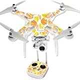 MightySkins Protective Vinyl Skin Decal for DJI Phantom 3 Professional Quadcopter Drone wrap cover sticker skins Yellow Petals