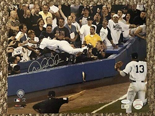 (Derek Jeter Yankees The Dive Autographed Signed 11x14 Photo Steiner Holo Coa MLB Holo - Authentic Memorabilia)