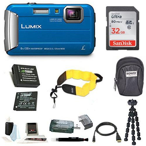 Panasonic Lumix DMC-TS30 Digital Camera (Premium, Blue)