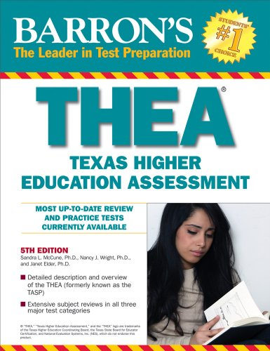 Barron's THEA: The Texas Higher Education Assessment (Barron's: The Leader in Test Preparation)