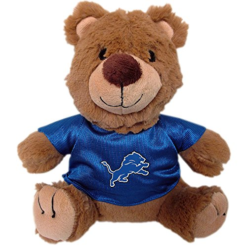 Pets First NFL TEDDY BEAR Plush Toy with inner Squeaker for DOGS, CATS, Kids or Décor. Wearing an DETROIT LIONS Jersey!