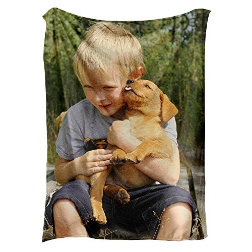 NIWAHO-THROWS MADE Custom Blankets with Photos for Adults - Design Your Own - Fleece,50X60 inches