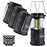 Br'Light Ultra Bright Mini LED Camping Lantern - Collapsible Portable LED Lantern for Hiking, Emergencies, Hurricanes, Outages and Storms (4 pack)