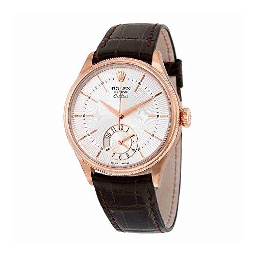 Rolex-Cellini-Dual-Time-Silver-Dial-18kt-Everose-Gold-Mens-Watch-50525SSBRL