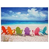 Best Quality Photo Prints - Oriental Furniture Colorful Vacation Home Decor 23-Inch Beach Review