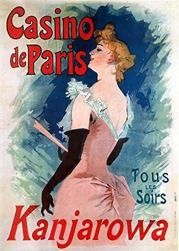 FRANCE CASINO DE PARIS 023 VINTAGE TRAVEL POSTER CANVAS ART