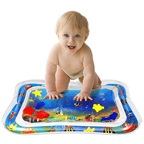 - MorTime Inflatable Tummy Time Premium Water mat Infants & Toddlers is The Perfect Fun time Play Activity Center Your Baby's Stimulation Growth
