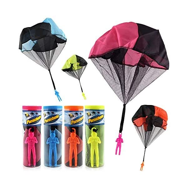 516bOPuZqoL. SS600  - HENGBANG 4PCS Set Tangle Parachute Figures Hand Throw Soliders Square Outdoor Children's Flying Toys | No Strin