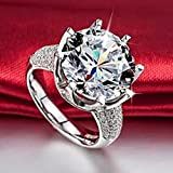 Hot Woman White Sapphire 925 Silver Filled Wedding Bridal Ring Gift Size 5-11#by pimchanok shop (6)