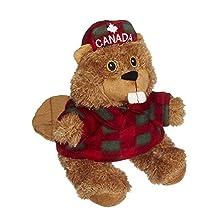 Plush Beaver in Lumberjack Shirt and Canada Maple Hat (8 inch)