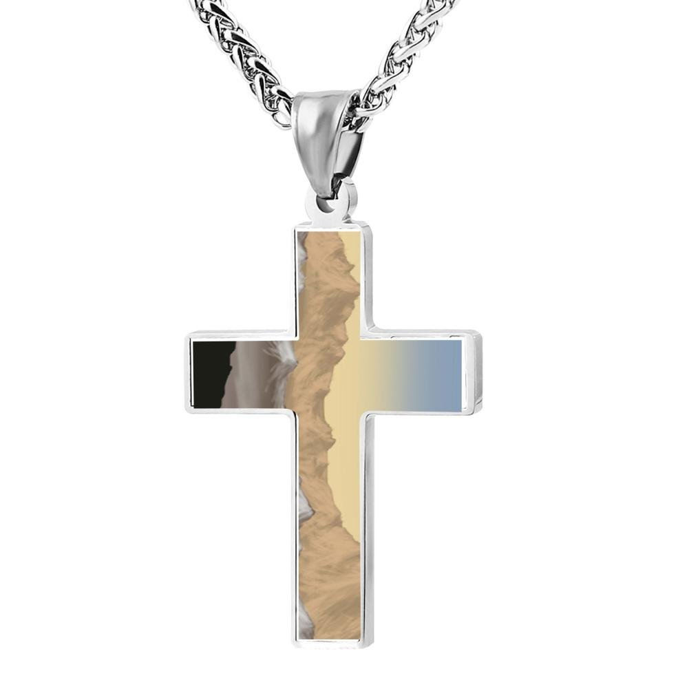 Gjghsj2 Cross Necklace Pendant Religious Jewelry Mountain For Men Wome by Gjghsj2