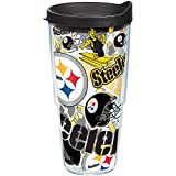 Tervis 1248053 NFL Team Tumbler with Wrap, 24oz, Clear
