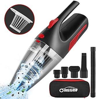 oasser handheld vacuum cordless vacuum cleaner car vacuum wet dry stainless steel. Black Bedroom Furniture Sets. Home Design Ideas