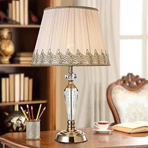 YFF@ILU Einfach und Modern Fashion warm crystal Tischleuchte Nachttischlampe Schlafzimmer Ideen dekorative Lampe dimmen Stoffen, Druckschalter