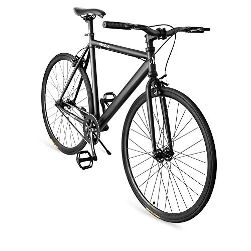 Superday Fixed Gear Single Speed Bikes 700C Urban Fixie Road Bike with Front & Rear Brakes