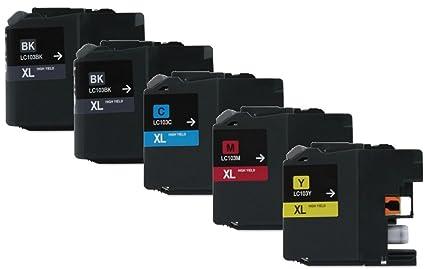 Axiom 5 Pack - remanufacturados LC103 LC105 cartucho de tinta para ...