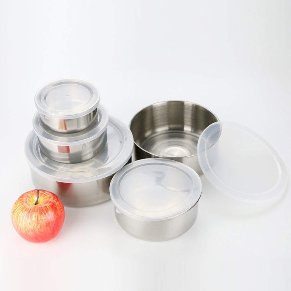 SKAISK Contenitore per Alimenti freschi in Acciaio Contenitore per Alimenti Impermeabile per Il Pranzo Contenitore per Alimenti Portatile per Adulti Vestito a Cinque Pezzi