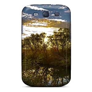 Excellent Galaxy S3 Case Tpu Cover Back Skin Protector Sunrise Over The River Nature