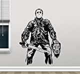 Jason Voorhees Wall Decal Friday The 13 Movie Maniac Vinyl Sticker Nightmare Horror Wall Art Design Housewares Kids Room Bedroom Decor Removable Wall Mural 92zzz