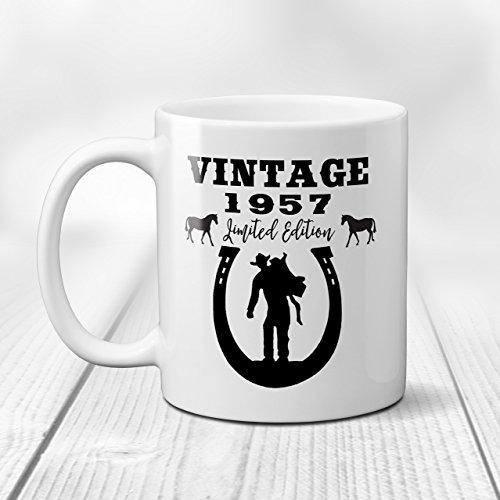 Vintage Limited Edition Cowboy Birthday Coffee Mug with Custom Date, 11 or 15 oz